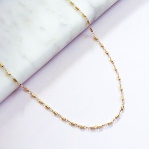 Jewelry - Gold Filled Cylinder Choker Necklace